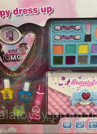 Набор детской косметики CS-68-E-11, косметичка сумочка, лаки