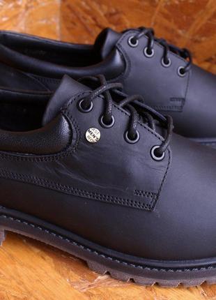 Туфли мужские черные осенние повседневные на шнуровке кэжуал Mida