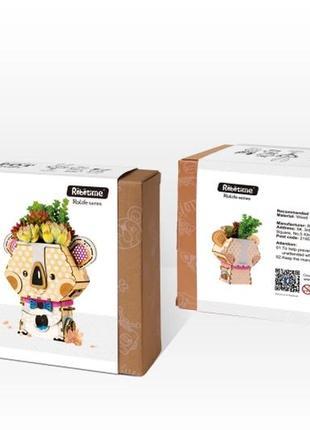 3D деревянный конструктор. Сделай сам. Цветочный горшок!