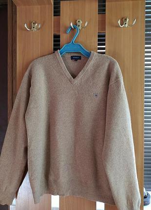 Lana wool мужской пуловер шерсть 100% gant германия