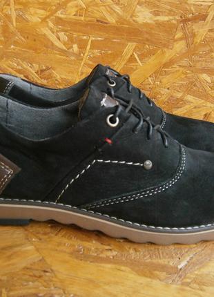 Туфли мужские натуральный нубук кожа повседневные casual Maxus