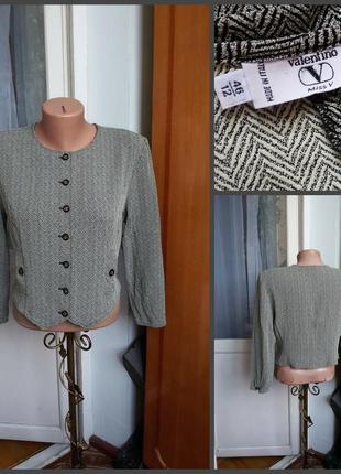 Короткий винтажный пиджак  жакет / кардиган valentino miss v