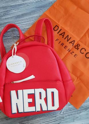 Рюкзак женский красный diana&co