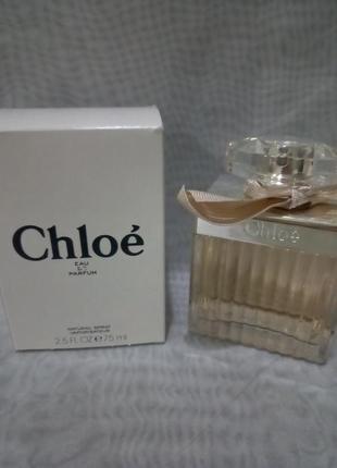 Chloe eau de parfum парфюмированная вода 75мл тестер,оригинал