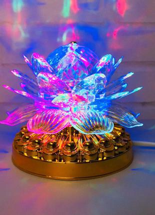 Яркая, Вращающаяся диско лампа Led full color rotating lamp