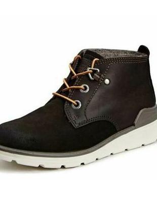 Ботинки ecco jayden 728513 hydromax оригінал натуральна замша ...