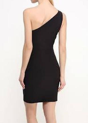 Маленьке чорне плаття на одне плече\плаття міні\платье мини на...