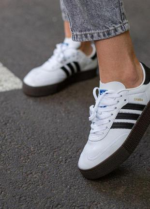 Кроссовки adidas samba white