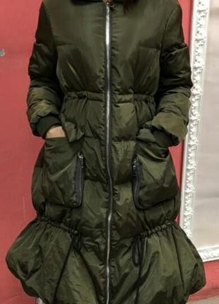 Крутое пуховое пальто s, m