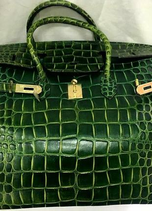 Яркая брендовая сумка кожа