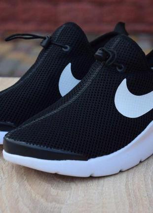 Nike  air max tavas black/white женские кроссовки найк черные ...