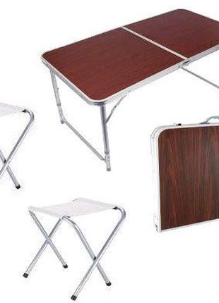 Стол-чемодан/ раскладной + 4 стулья