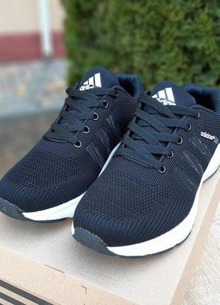 Adidas neo black/white мужские кроссовки адидас черные на бело...