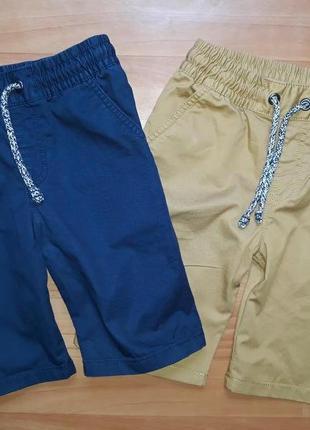 Комплект хлопковых шорт f&f на 7-8 лет