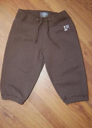 Спортивные штаны h&m, коричневые, рост 86