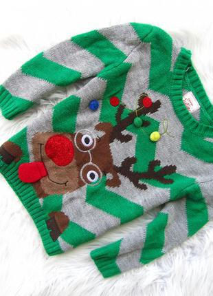 Кофта свитер george новый год