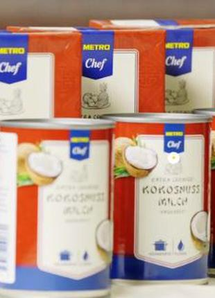 Кокосовое молоко без консервантов 400 мл, 1 л