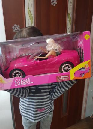Barbie Defa на кабриолете большая машина