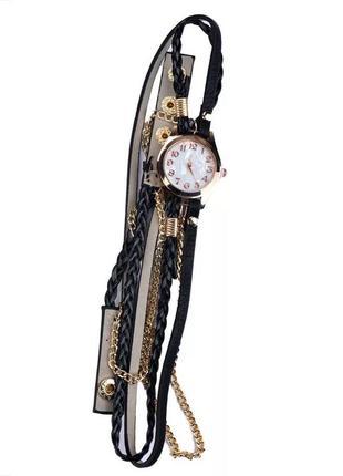 Женские часы с плетённым ремешком