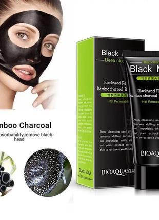Чёрная маска для лица глубокого очищения