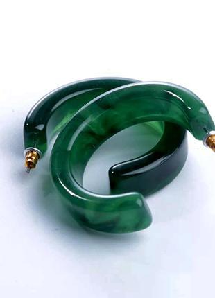 Полукруглые серьги кольца, акрил