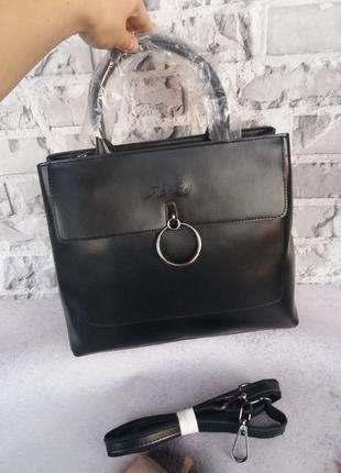 Женская кожаная сумка жіноча шкіряна большая