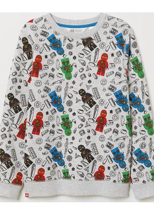 Кофта на 3-4 года, h&m sweatshirt with printed design