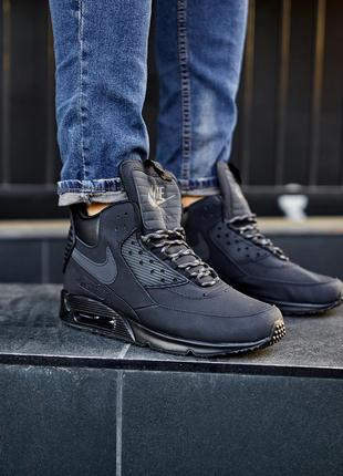 "Nike air max 90 sneakerboot winter ""triple black""(скидка)"
