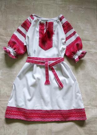 Платье вышиванка девочкам 84-164р.