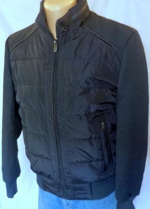Мужская демисезонная куртка с трикотажными рукавами