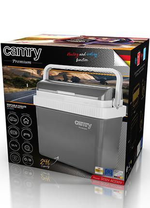 Автомобильный холодильник с подогревом CAMRY 24л 12-220в CR8065