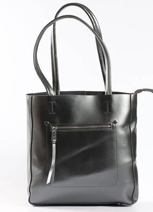 Красивая кожаная сумка на плечо