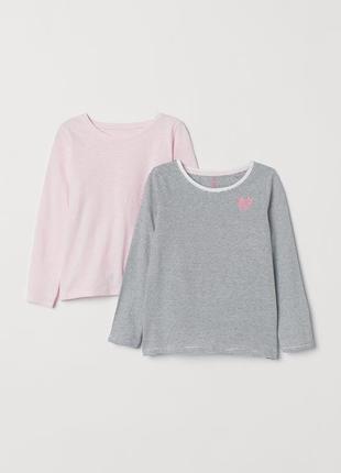 Набор из двух кофт на 3-4 года, h&m,2-pack long-sleeved tops
