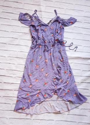 Платье сарафан вискоза цветы воланы