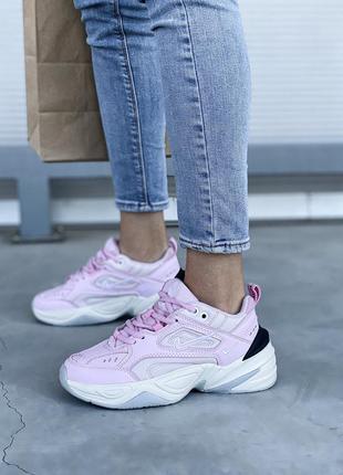 Nike m2k tekno pink 🤗 женские кроссовки найк розовые
