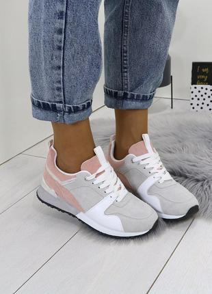 Стильные замшевые кроссовки,разноцветные кроссовки.