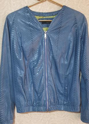 Куртка бомбер кожа кожаная питон