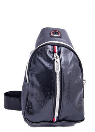 Спортивная мужская сумка бананка на молнии