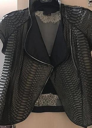 Куртка жилетка кожа кожаная питон оригинал