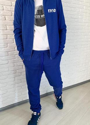 Спортивный костюм мужской синий