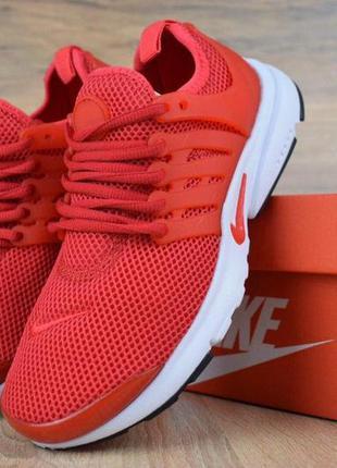 Nike air presto red мужские кроссовки найк красные 41-45
