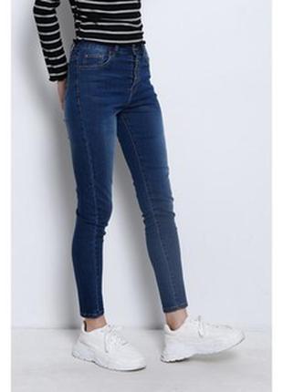 Модные джинсы с высокой посадкой размер л-хл one love