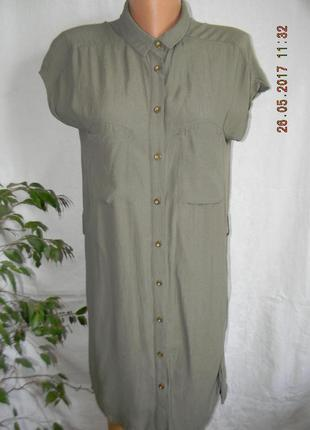 Платье -рубашка вискоза oasis