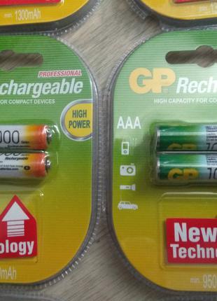 Новые аккумуляторы GP 1000 мА
