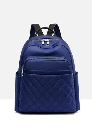 Рюкзак, городской рюкзак, синий. ромбики.