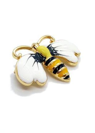 """🌺🐝 симпатичная яркая брошь """"пчела"""" эмаль пчелка оса брошка зна..."""