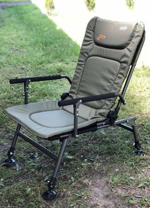 Карповое кресло складное рыбацкое Novator SR-2 ГАРАНТИЯ+ДОСТАВКА