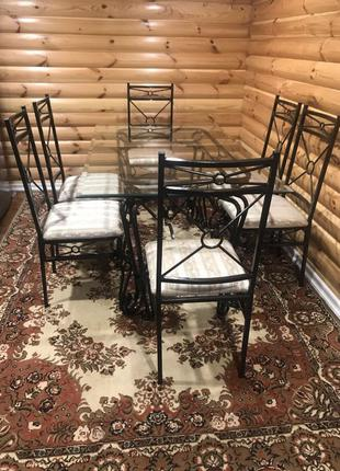 Обеденный металлический стол