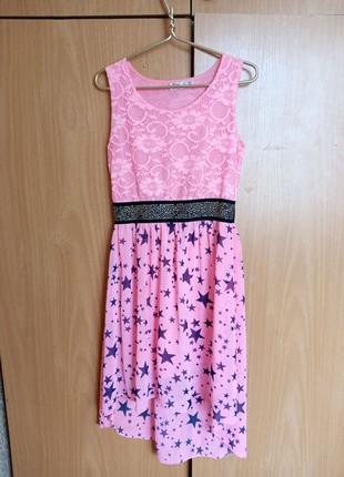 Платье девочке 11-12 лет.