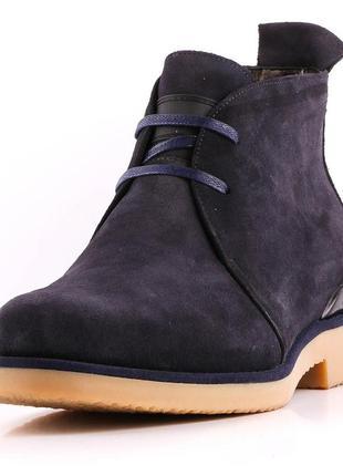 Ботинки мужские зимние a. bazalini , натуральная замша , sale-...